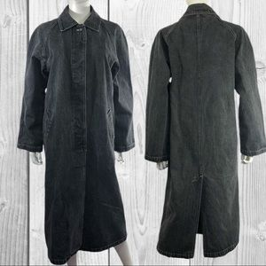 Learsi Vintage Duster Denim Trench Coat